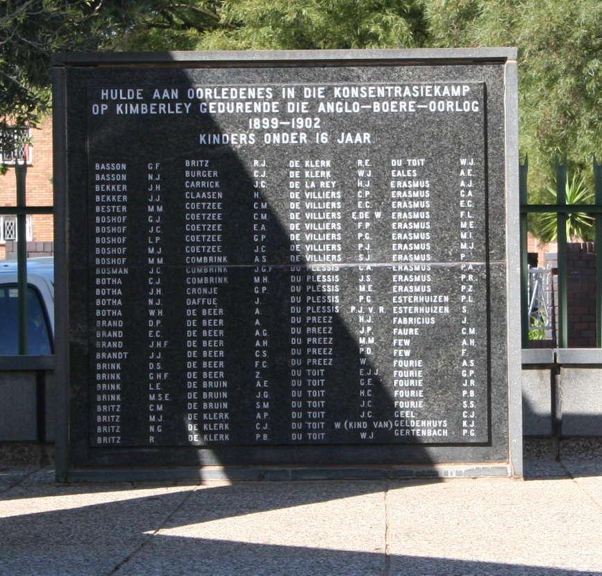 Kimberley sterftes onder 16 Basson - Gertenbach