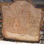 Grafsteen / Gravestone - Martha A Boshoff
