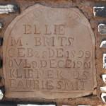 Grafsteen / Gravestone - Ellie M. Brits