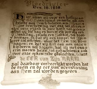 Die gelofte by bloedrivier - 1938 gedenk uitgawe