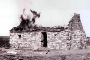Brandende huis Anglo Boere oorlog